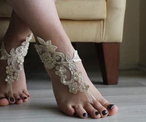 accessories, barefoot sandals, and bridal sandals image