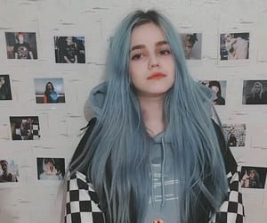 blue, blue hair, and girl image