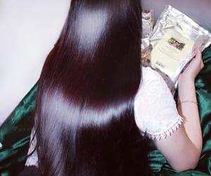beautiful hair, black hair, and girl image