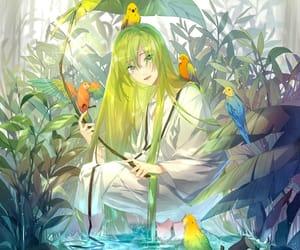 anime, birds, and fanart image