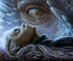 artwork, fire and blood, and mother of dragons image