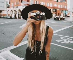blonde, camera, and freedom image
