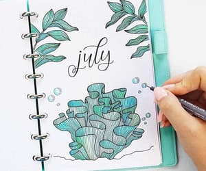 july, summer, and bullet journal image