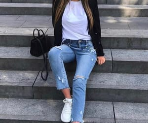 blonde, style, and fashion image