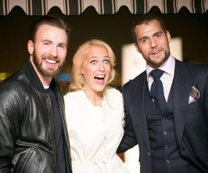 chris evans, Henry Cavill, and gillian anderson image
