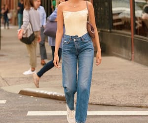 summer fashion, summer outfit, and beige top image