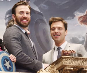 Marvel, chris evans, and sebastian stan image