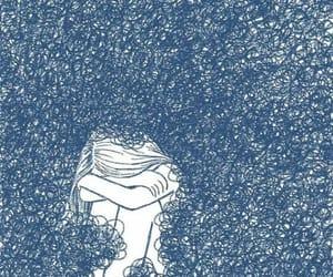 blue, sad, and girl image