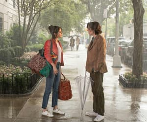 selena gomez, timothee chalamet, and a rainy day in new york image