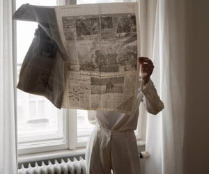 newspaper, white, and aesthetic image