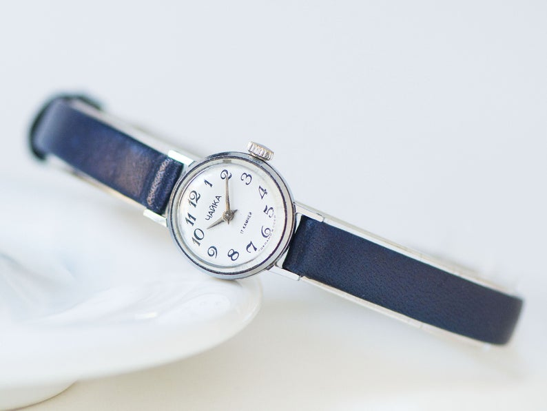 etsy, arabic numerals, and vintage lady watch image