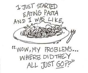 pasta, food, and funny image