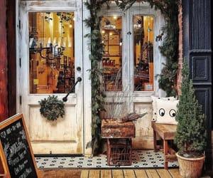 coffee shop, decor, and facades image