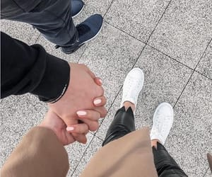 couple, holding hands, and cuddle image