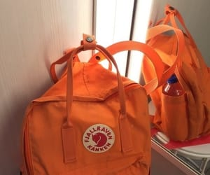 orange, aesthetic, and backpack image