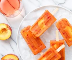 ice cream, picolé, and peach image