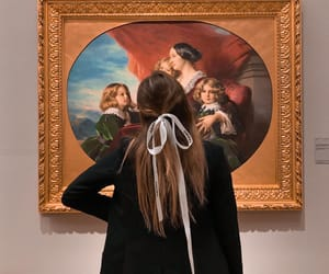 art, hair, and museum image