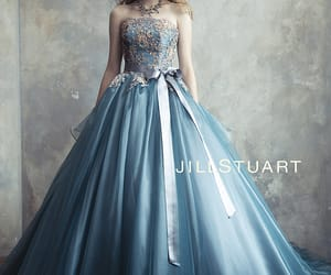 ball gown, tulle, and decolletage image