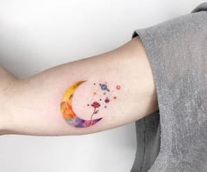 ink, moon, and planets image