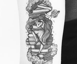 black and white, books, and dreams image