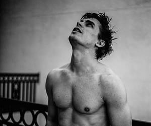 black and white, fitness, and antoni image