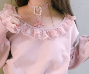 pink, girl, and soft image