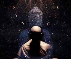 meditation, Buddha, and universe image