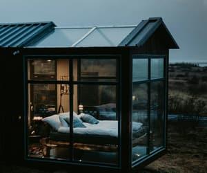 architecture, cabin, and design image