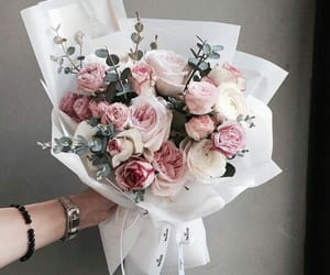 bouquet, flower, and roses image