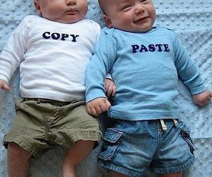 baby, funny, and twins image