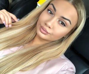 blonde, blonde hair, and long hair image