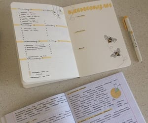 bees, yellow, and copybook image