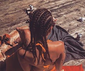 bikini, girl, and orange image