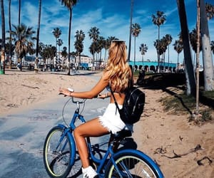 bike, summer, and beach image