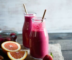 drinks, strawberry, and FRUiTS image