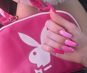 bunny, nails, and pastel image