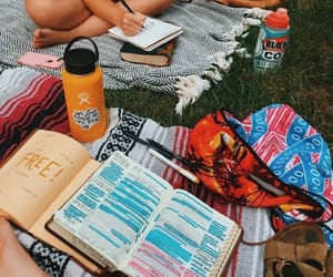 summer, book, and fun image
