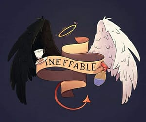 angel, aziraphale, and crowley image