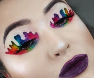 colorful makeup, dripping, and makeup artist image