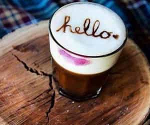 coffee and hello image