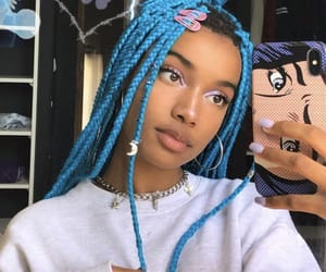 blue, braids, and blue hair image