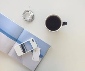 aesthetic, baby blue, and coffee image