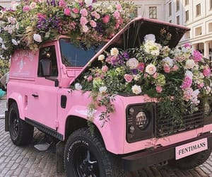 cars, flowers, and pink image