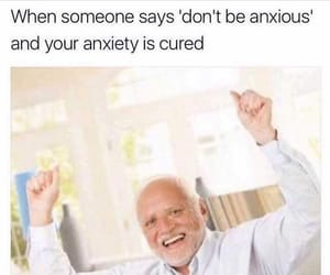 meme, funny, and anxiety image