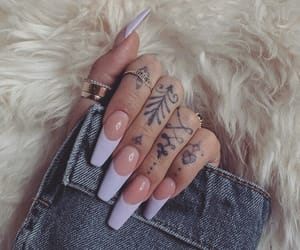 nails, inspiration, and tattoo image