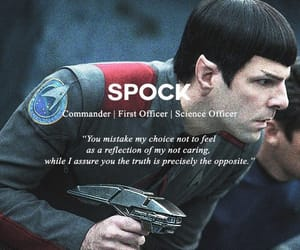 spock, zachary quinto, and star trek image