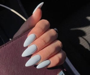 nails, blue, and style image