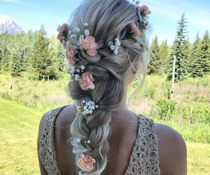 flowers, goals, and hair image