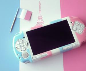 pink, psp, and france image