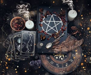 witch, black, and crystal image